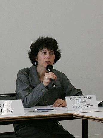 写真=EU駐日欧州委員会代表部のシルビア・コフラー広報部長