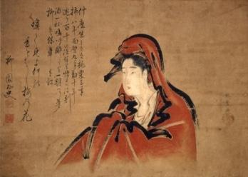女達磨図 喜多川歌麿画 (1790-1793ごろ) 栃木市蔵