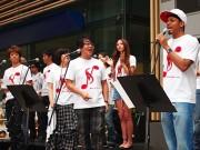 TUBEの復興応援歌「RESTART JAPAN」、東京ミッドタウンで大合唱