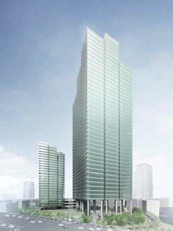 移転先の「六本木三丁目東地区第一種市街地再開発事業」(完成予想図)