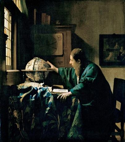 ヨハネス・フェルメール《天文学者》1668年 油彩/カンヴァス 51×45 cm Photo © RMN-Grand Palais (musee du Louvre) / Rene-Gabriel Ojeda / distributed by AMF - DNPartcom