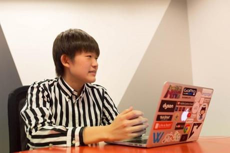 現在中学3年生の社長・武藤篤司さん
