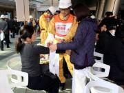 六本木ヒルズで震災訓練 オフィスワーカーや近隣住民ら900人が参加
