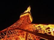 東京タワーのライトアップが冬の衣替え 180灯が温かみのあるオレンジ色に