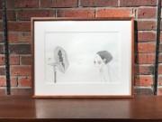 西麻布のカフェで松本大洋さん&くどうなおこさんの『「いる」じゃん』原画展