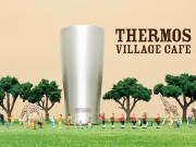 六本木ヒルズで「THERMOS VILLAGE CAFE」 巨大タンブラーのフォトスポットも