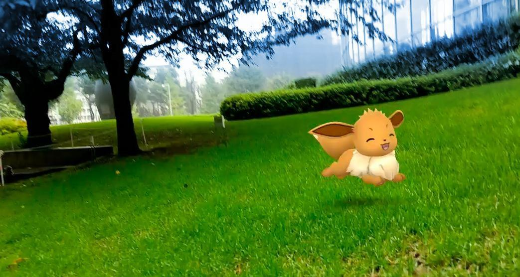 「Pokemon GO AR庭園」イメージ ©2018 Niantic, Inc. ©2018 Pok?mon. ©1995-2018 Nintendo/Creatures Inc. /GAME FREAK inc.