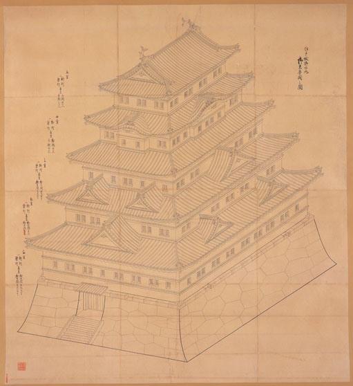 同展で展示される「江戸城御本丸御天守閣外面之図」