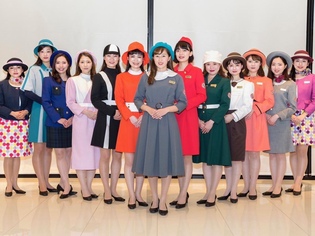 復刻した東京タワー歴代の制服