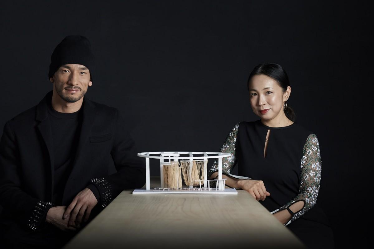 イベントをプロデュースした中田英寿さんと、建築家の永山祐子さん