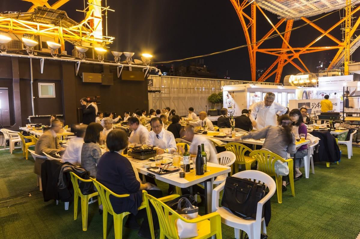 今年で5回目の開催となる「TOKYO TOWER HIGHBALL GARDEN ROOFTOP ジンギスカン」