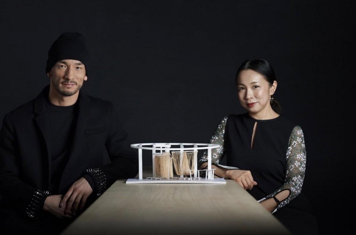 日本酒イベントをプロデュースした中田英寿さんと、建築家の永山祐子さん