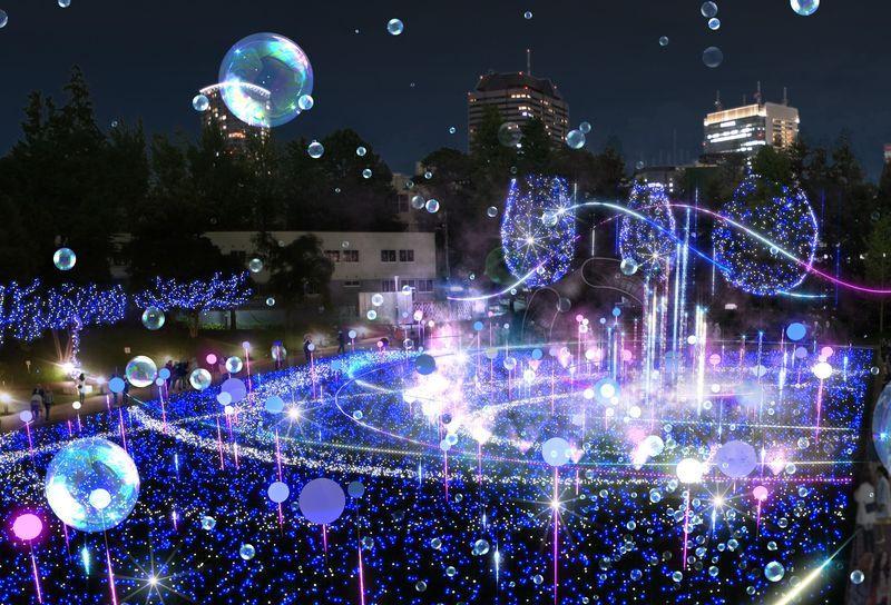宇宙現象を表現する「スターライトガーデン 2019」(イメージ)