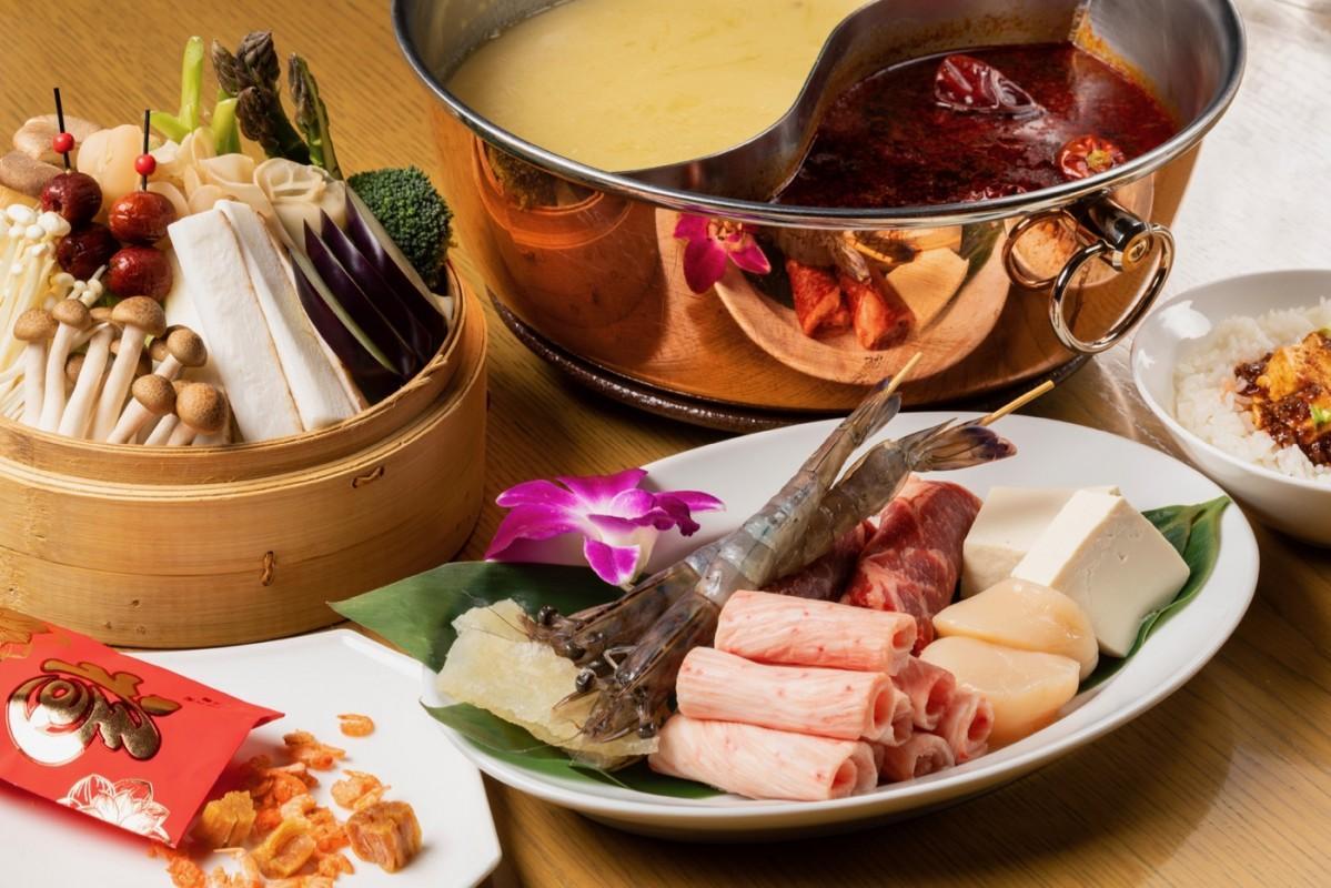 中国料理店「チャイナルーム」の「本場四川式麻婆火鍋」