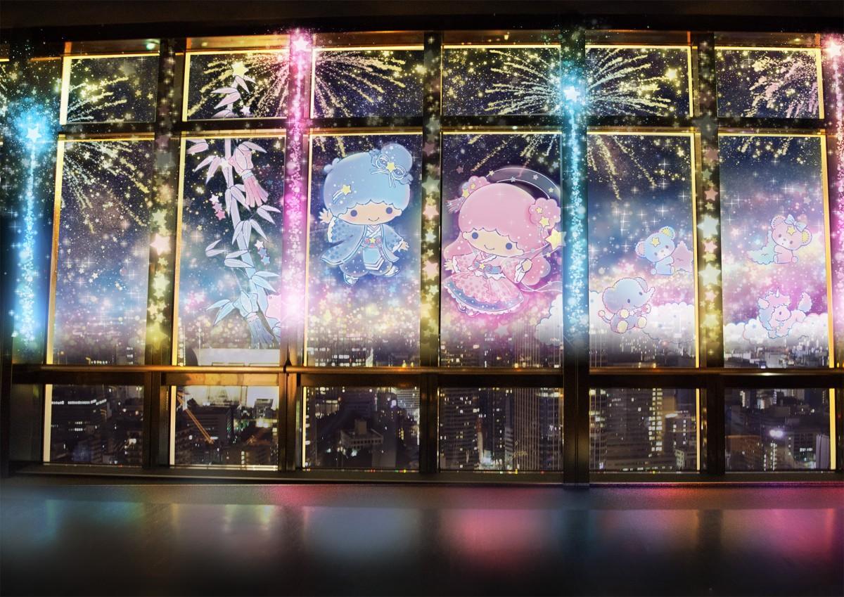プロジェクションマッピング「TOKYO TOWER CITY LIGHT FANTASIA ~Twinkle color miracle☆~」©'76, '20SANRIO 著作(株)サンリオ