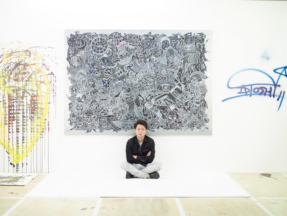 「FREESTYLE 2020 大野智 作品展」を開く大野智さん(C)FREESTYLE 2020 SATOSHI OHNO EXHIBITION