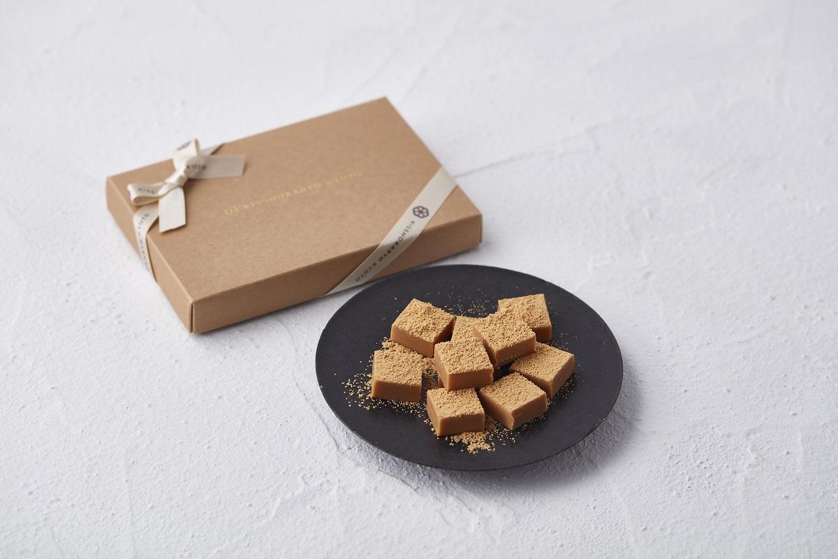 「吉祥菓寮」の提供メニュー「きな粉生チョコレート〈深み焙煎〉」