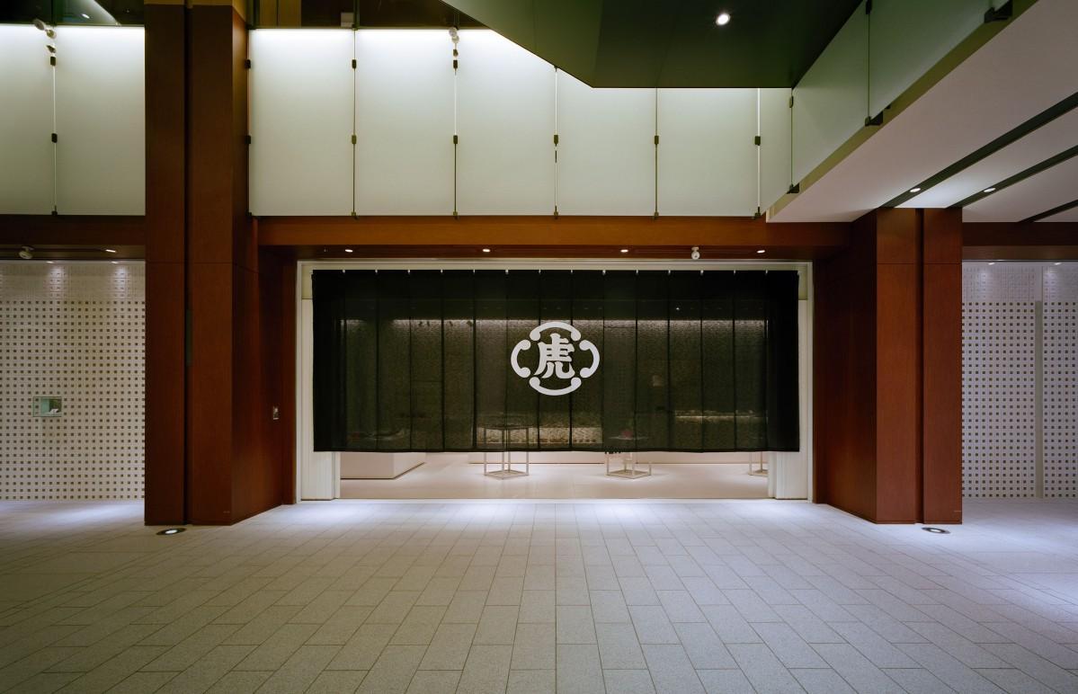 東京ミッドタウンの「とらや 東京ミッドタウン店」の外観