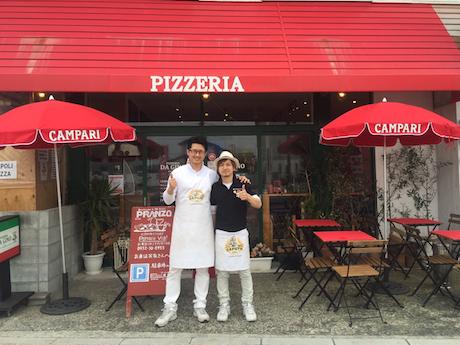 「PIZZERIA DA GINO」店主の沖津健さん(写真左)