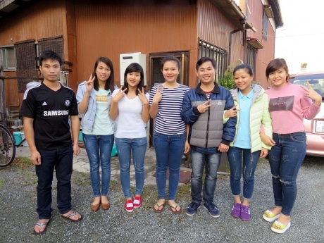 TOJINシェアハウスに滞在するベトナム人研修生