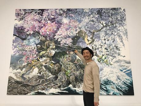 池田学さんとチェゼン博物館で描いた新作「誕生」
