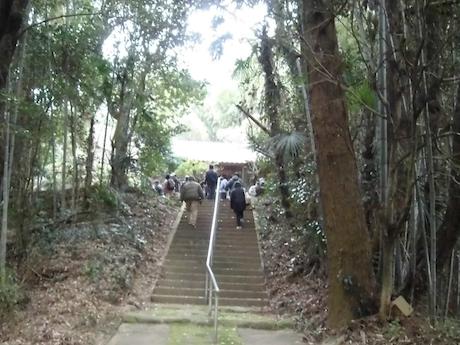 体験会コースにある吉野ヶ里町鳥ノ隈地区の天満宮