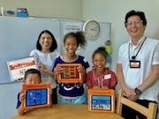 佐賀で子ども向けプログラミング体験講座 iPadで作品作り