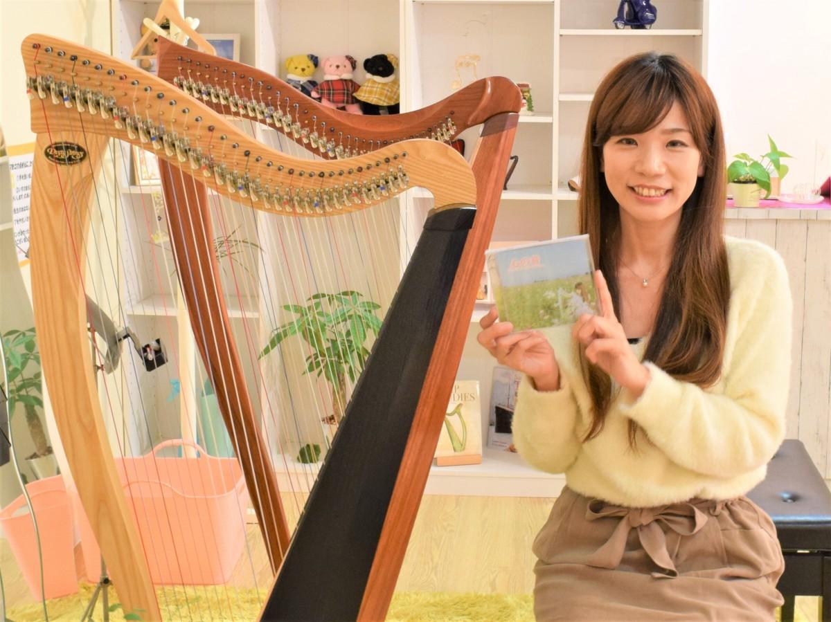 初のCDアルバム「心の音」をPRする児島祐子さん