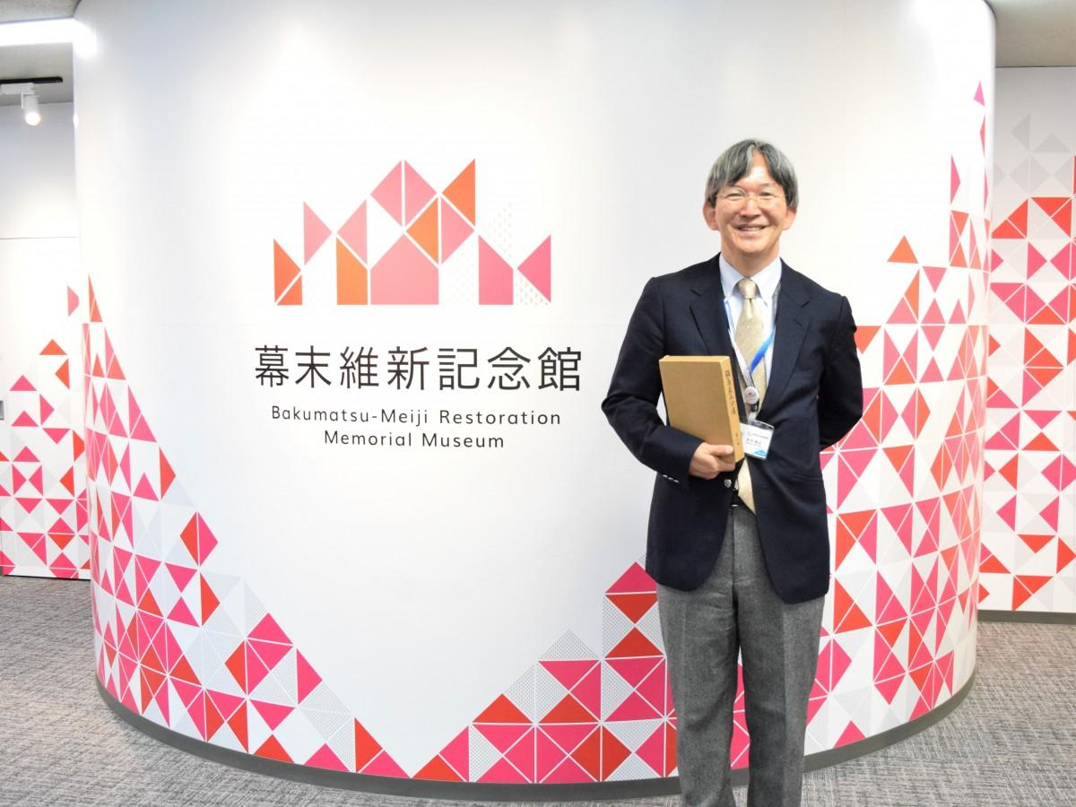 来場を呼び掛ける「維新博」事務局の田中裕之さん