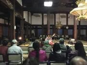 佐賀・願正寺本堂で「てらおん 夜桜コンサート」 しだれ桜とともに音楽を