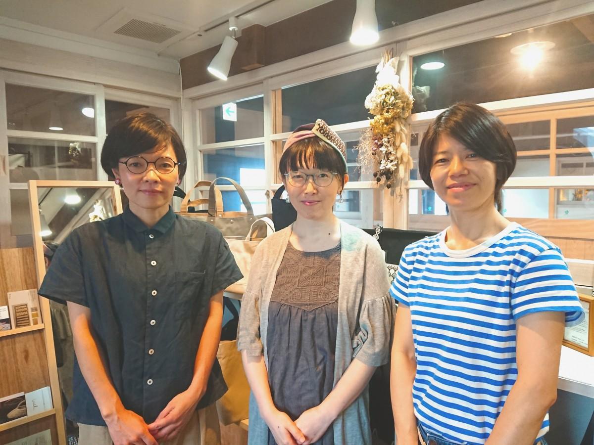 (左から)「CUBIE」のタカオユミコさん、「totto」の野田茜さん、「wanato」の河原由紀子さん