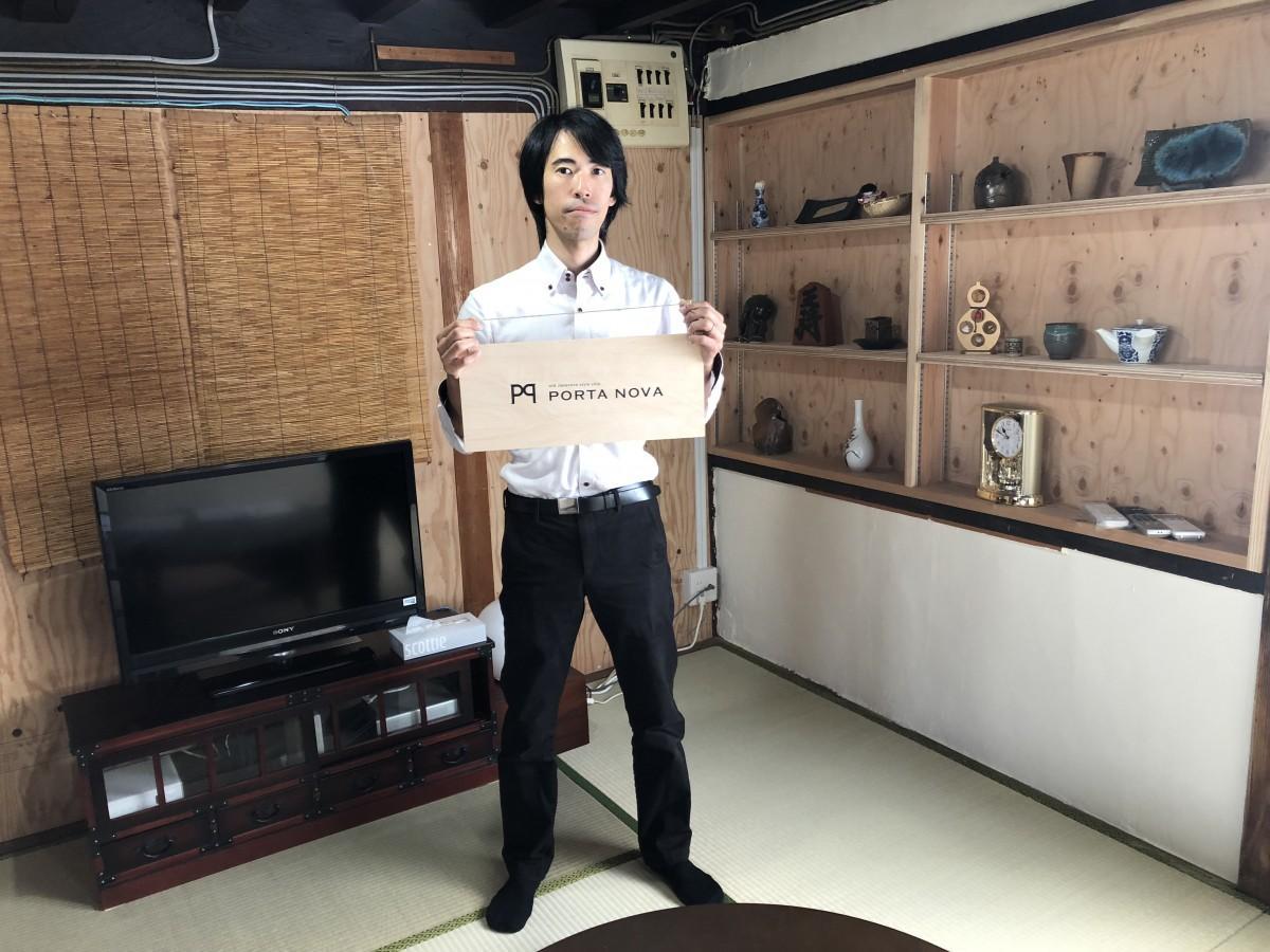 ゲストハウスを運営する江口健二郎さん