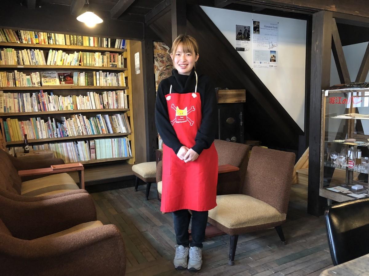 「えだうめカフェ」スタッフの井上愛梨さん