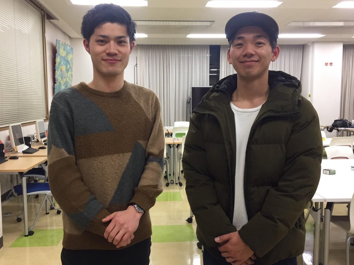 主催の山口拓馬さん(左)と小島翔太さん(右)