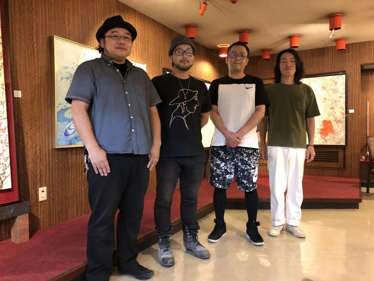 (左から)大串亮平さん、諸井謙司さん、平田晴久さん、橙屋三蔵さん