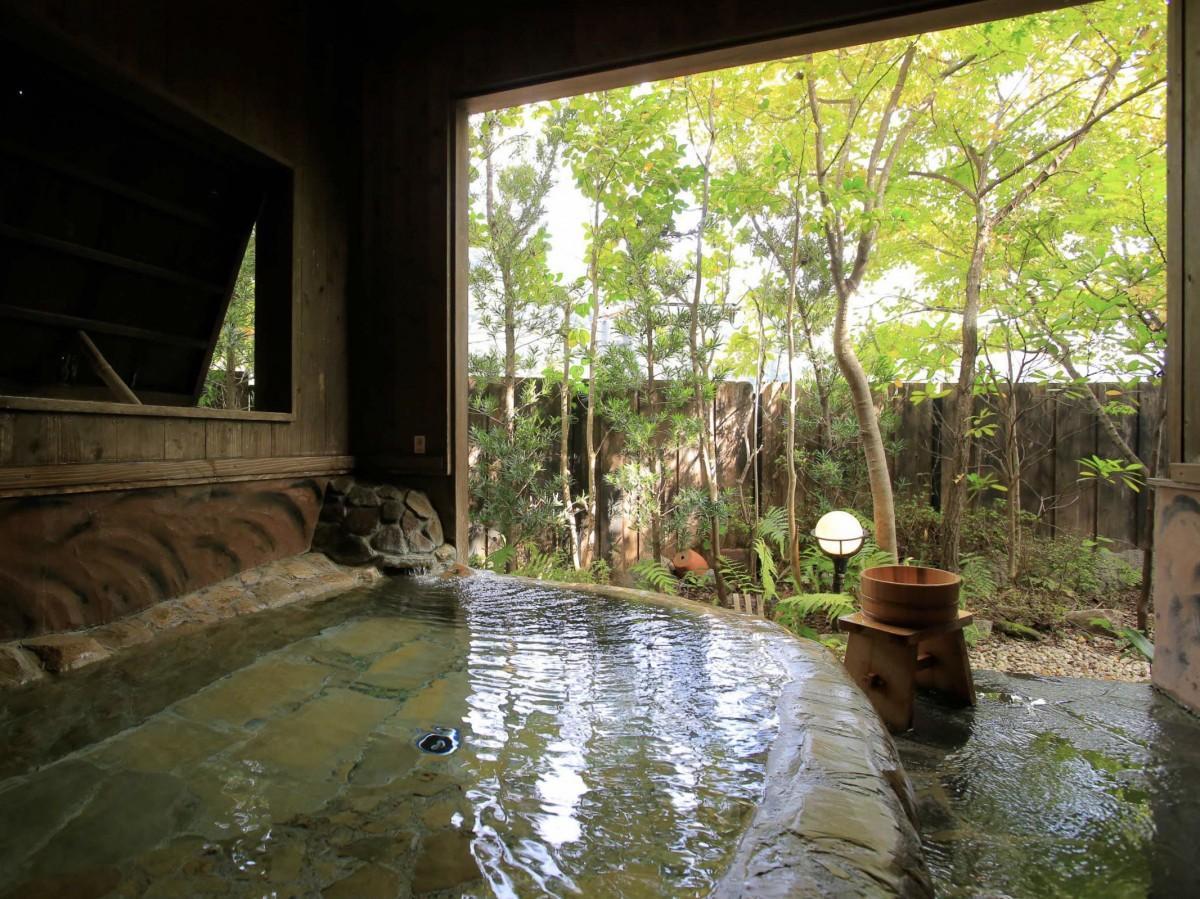 熊の川温泉「夢千鳥」の家族風呂「川せみの湯」