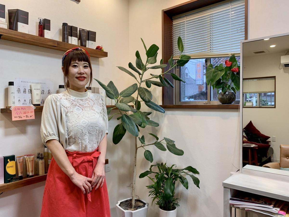 「genic hair」店主の宮地志穂さん