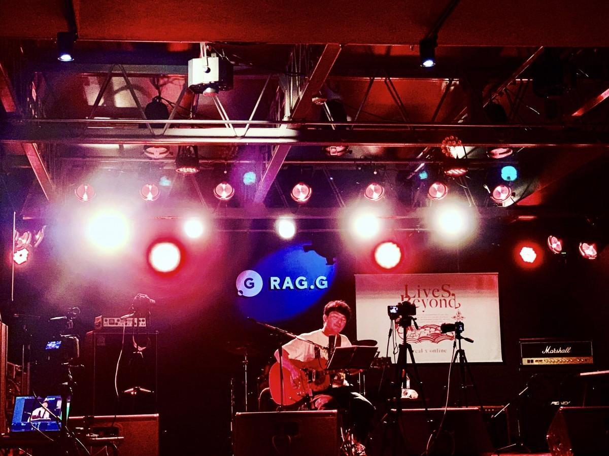 リニューアルオープン後、「RAG.G」で開催された無観客ライブの様子