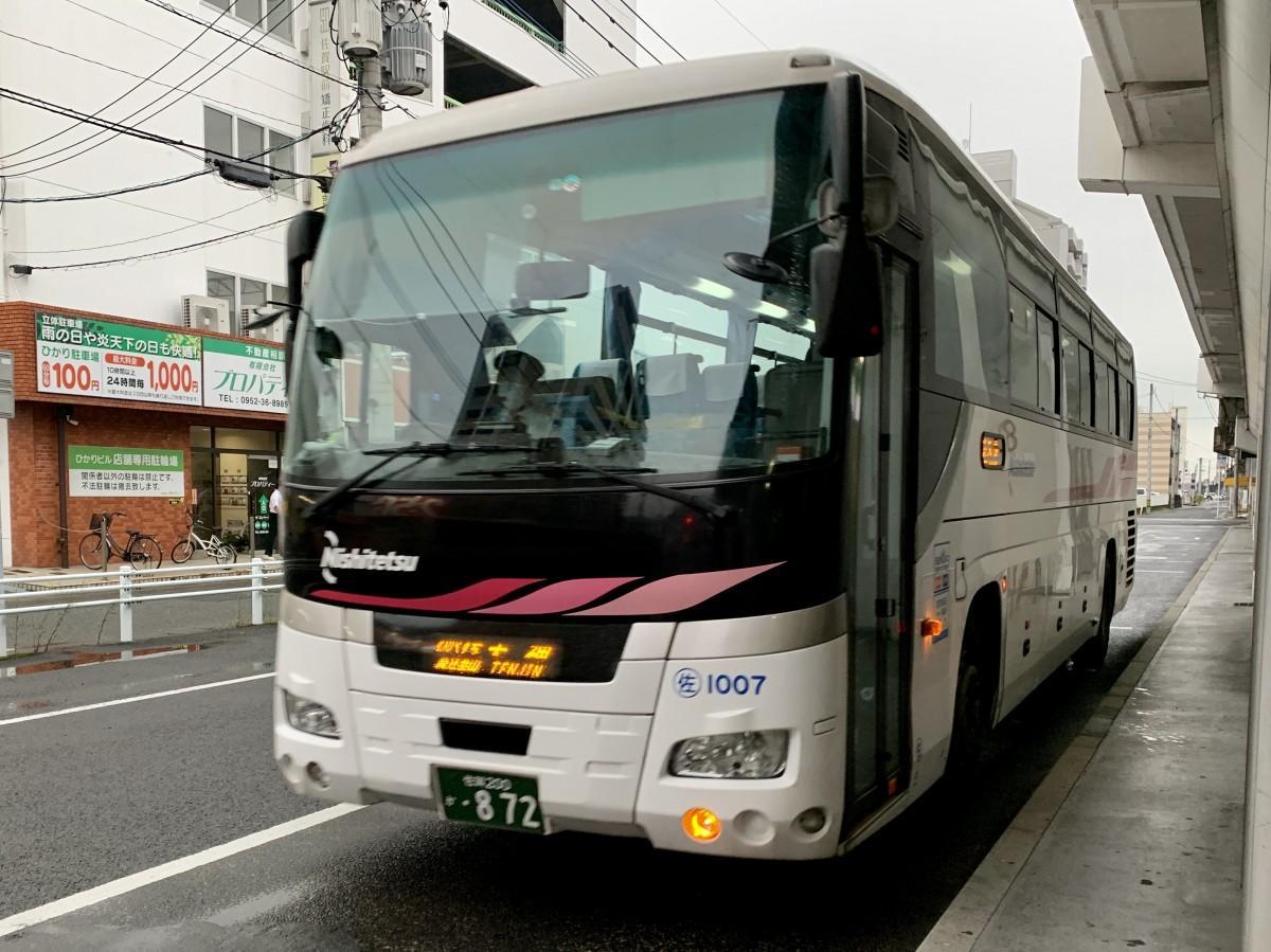 佐賀駅バスセンターに到着する西鉄高速バス