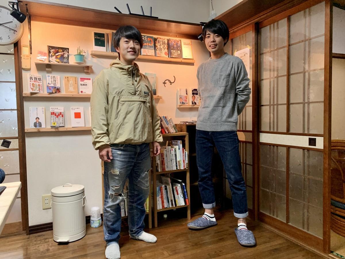 (右から)「ノギ」共同代表の児玉浩史さん、江頭宗次郎さん