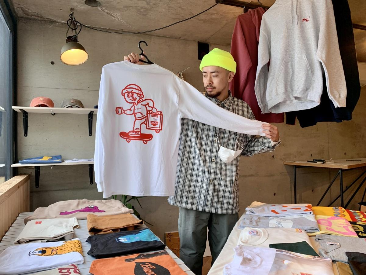 「RAMEN YOUNG POPUP」をPRするカフェ「orutana」店長の齋涼太朗さん