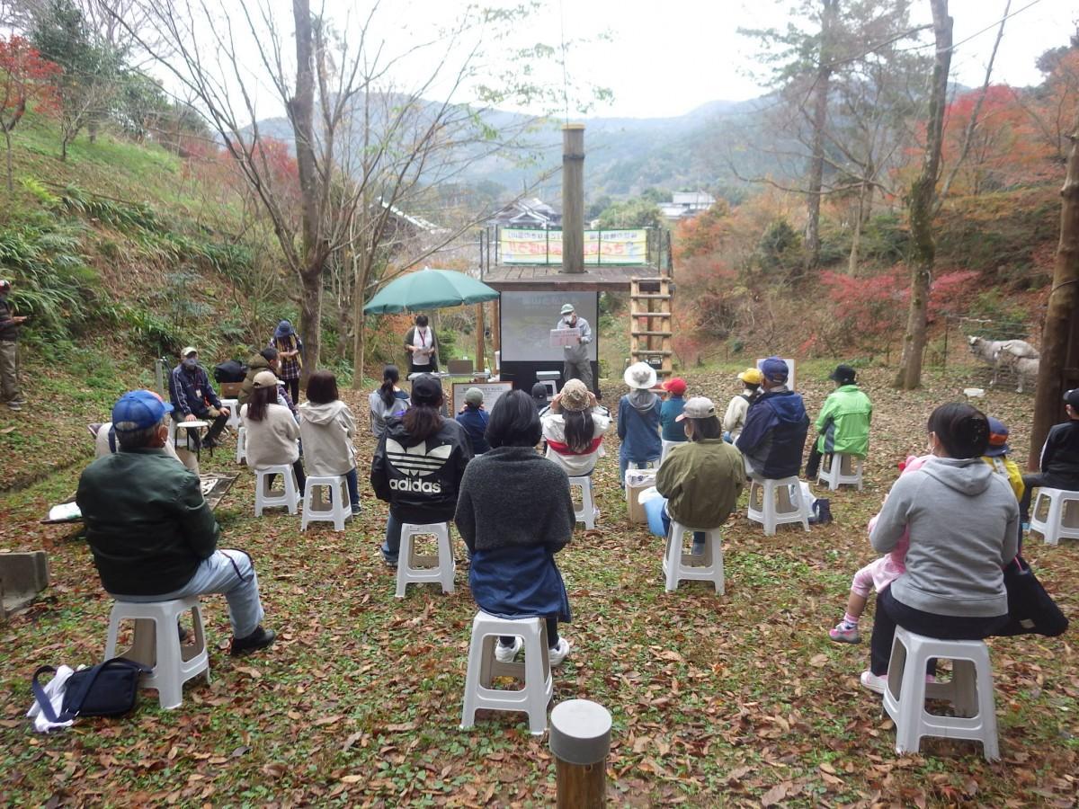 「いまり こまなきの里山」で開催した体験イベント「さとやまでまなぼう!」の様子