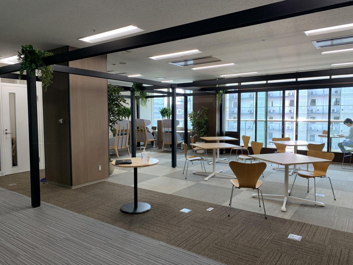 リニューアルした「マイクロソフトAI&イノベーションセンター佐賀」コワーキングスペース