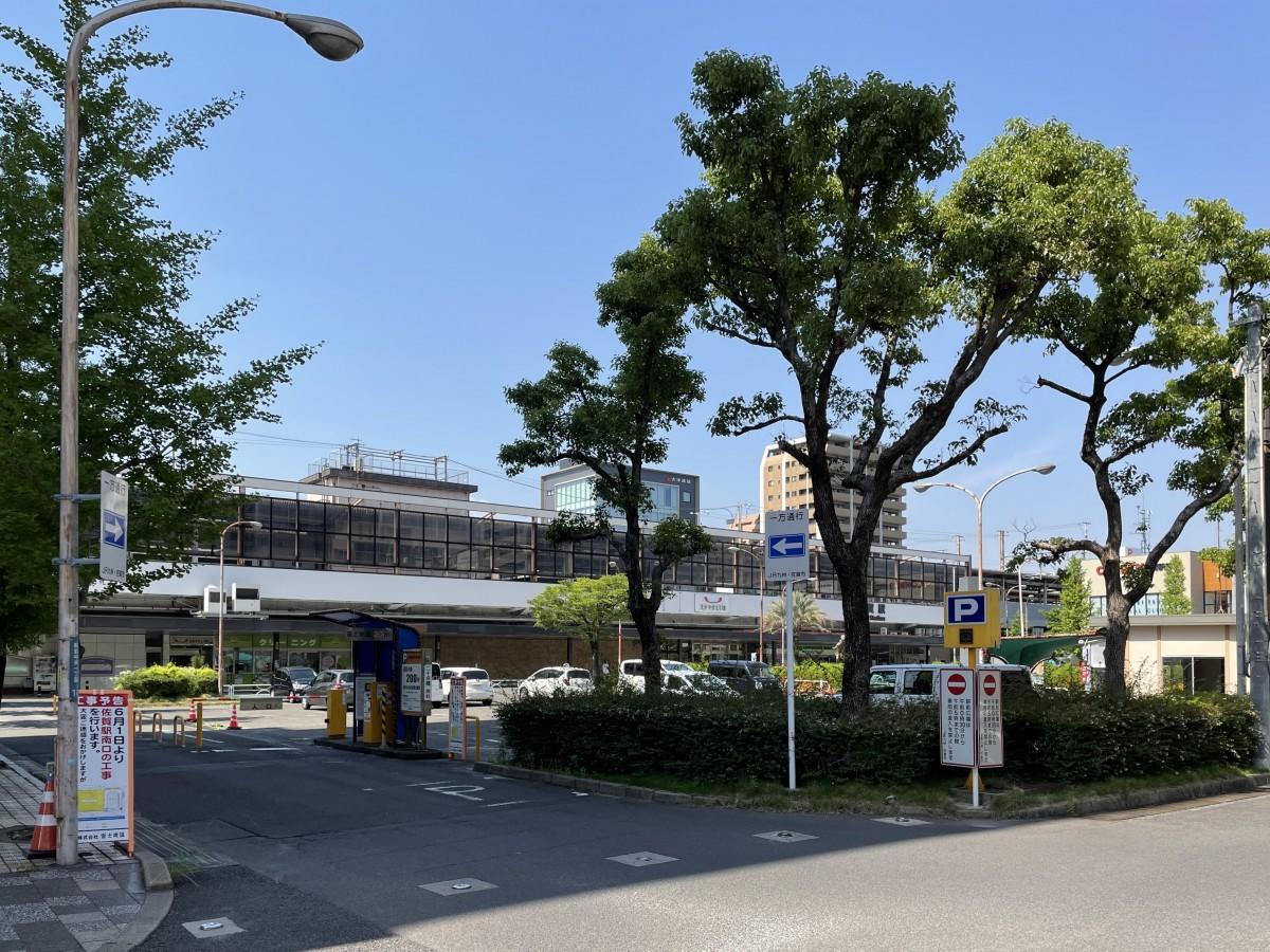 6月1日に再整備工事が始まった佐賀駅南口広場