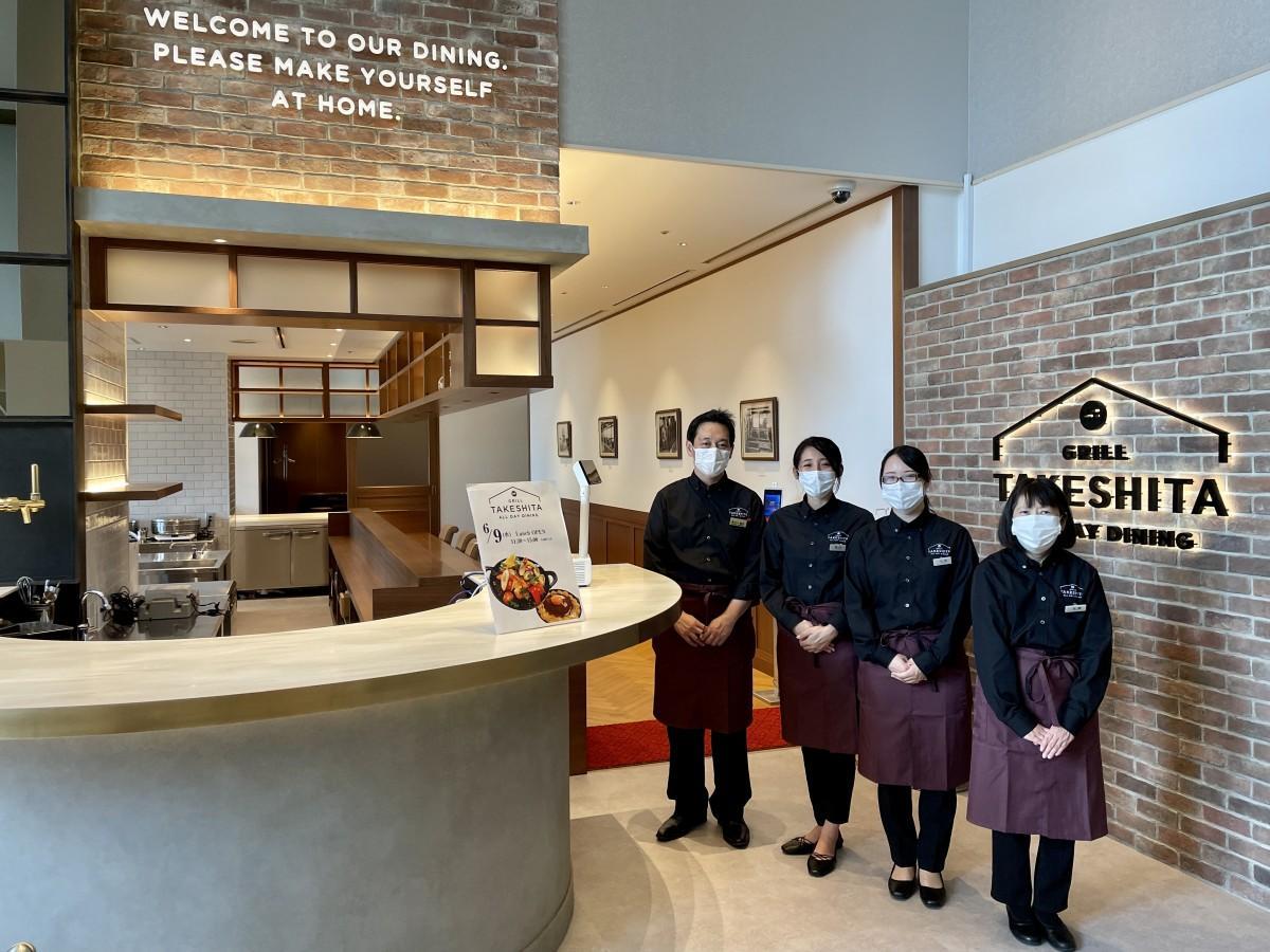 6月9日にリニューアルオープンする「グリルタケシタ」スタッフ