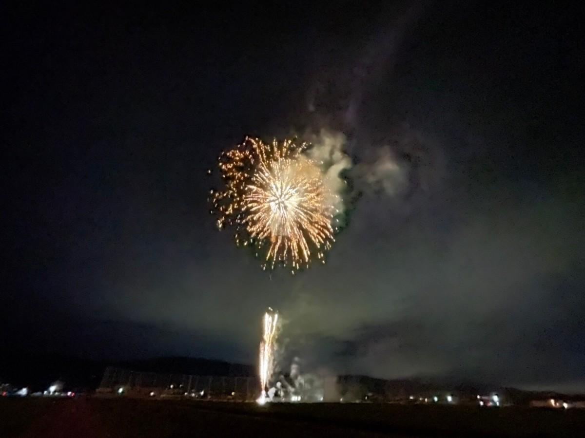佐賀青年会議所「未来に繋がるまちづくり委員会」が企画し打ち上げた花火