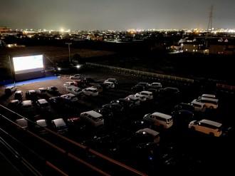 イオンモール佐賀大和でドライブインシアター 「えんとつ町のプペル」上映