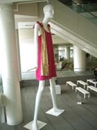 ナナちゃん「ピンクのワンピで栄にお出かけ」-巨大マネキン展示