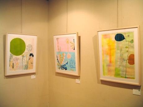 谷口広樹さんと溝渕美穂さんの二人展「たにぶち園芸」。合作作品の一部。