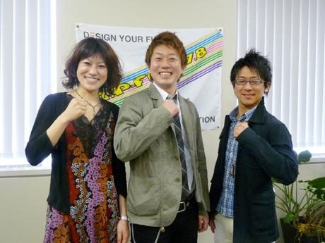 左からミュージックナビゲーターの空木マイカさん、小林拓一郎さん、磯谷祐介さん